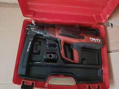Hilti DX 76 nail gun with Magazine and other fastener. Used..