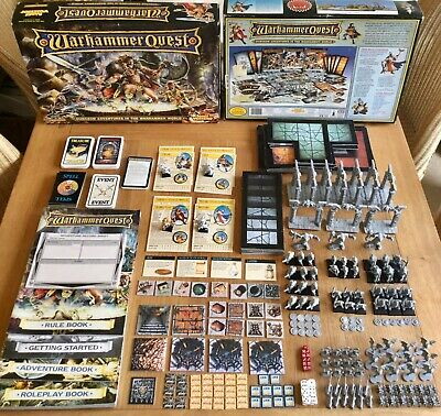 Warhammer Quest board game - OOP complete, plus 9 related White Dwarf magazines!