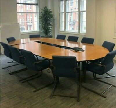 Boardroom/Meeting/Office/Conference table seats up to 14,