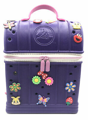 Crocs Childrens Jibbitz Zip-top Girls Backpack (Purple With Pink Straps)