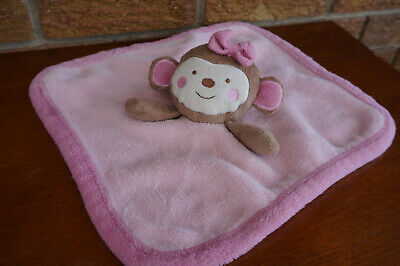SECURITY Blanket KOALA Baby PLUSH Pink TAN Brown MONKEY Toys R Us Lovey Doll