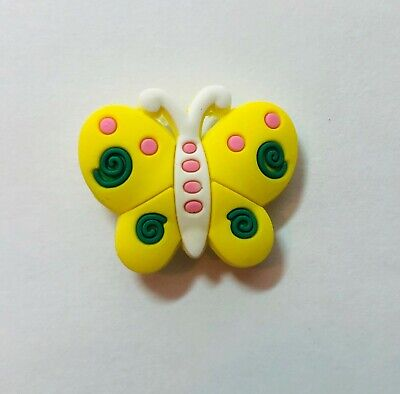 Yellow Butterfly Pvc Shoe Charm for your Crocs/Jibbitz