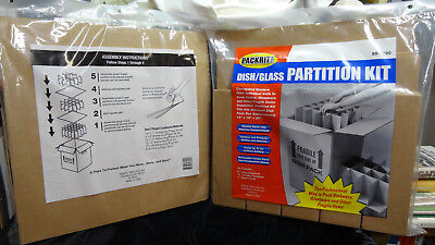 2 New Dish & Glass Pack Partition Kits - Kitchen Boxes Cell Partitions Dividers