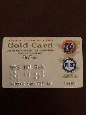 Vintage Union 76 Gold Card Expired 1969