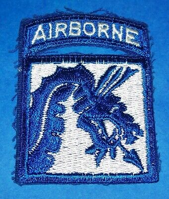 ORIGINAL CUT-EDGE 1960's 18th AIRBORNE CORPS PATCH & ATTACHED TAB