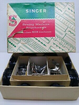 Vintage Singer Sewing Machine Attachments #161745 In Box For #503 Machines