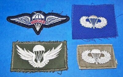 ORIGINAL CUT-EDGE 1960's AIRBORNE JUMP WINGS & PARACHUTE RIGGER PATCHES LOT!