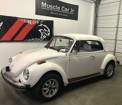 1977 Volkswagen Beetle-New Champagne Edition 1977 VW Super Beetle Convertible All White Edition New Top Worldwide Shipping