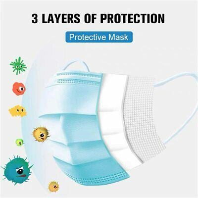 50 PC Face Mask Mouth & Nose Protector Respirator Masks with Filter  USA