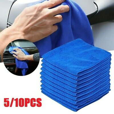 5/10x Large Microfibre Cleaning Auto Car Detailing Soft Cloth Wash Towel Duster