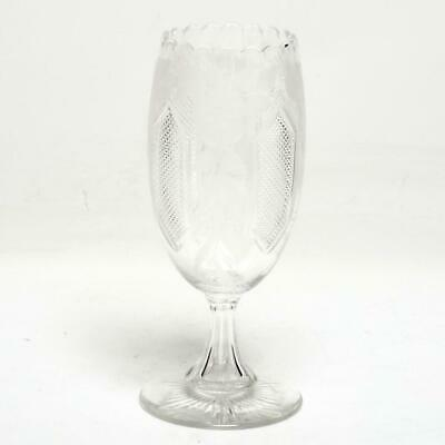Stunning Anglo-Irish Cut Crystal Vase
