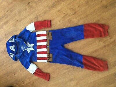 Captain America All In One Pyjarma Outfit Disneyland Paris Age 8-10