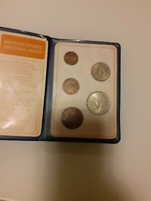 Britain FIRST Decimal Coin Set Presentation Collection Uncirculated 1971-1968