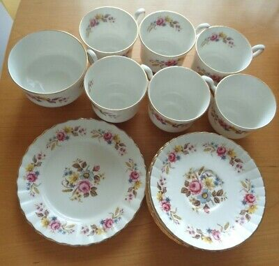 Royal Stafford 14 Piece Pink Floral Bone China Tea Set -Vintage And Excellent!