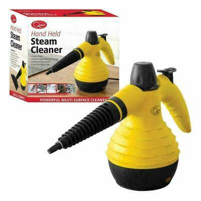 Quest Handheld Steam Cleaner, 0.25 Litre, 1000 W, 3 Bar, Multi Purpose Yellow