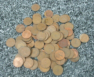Bundle of  half new penny coins various dates 92 of them