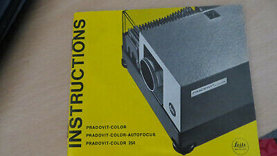Leitz Pradovit Colour 250 Slide Projector. Working. With Instructions and remote