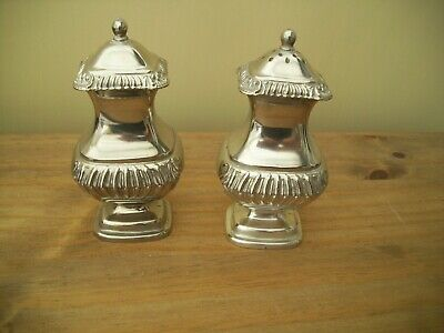 Pair of Vintage Grenadier SIlver Plated Salt & Pepper Pots Quality