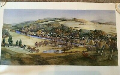 Limited Edition 22/120 Maggie Riegler Scottish Speyside Art Hand Signed Litho