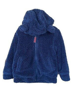 Mini Boden Girls Navy Fluffy Hoodie Age 4-5 Years