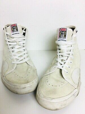 Vans Off The Wall Van Engelen Off White Suede High Tops Skateboard Sneakers 12