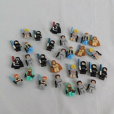 29 piece Lot Star Wars Lego PVC Shoes Charms Jibbitz Wristbands Gift Leia Darth