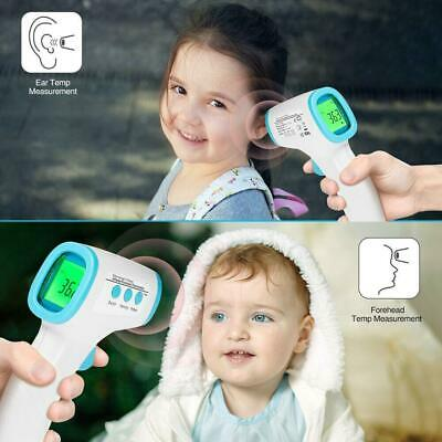 No-contact Touch IR Infrared Digital LCD Thermometer Forehead Ear Babies Adult