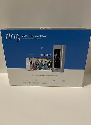 Ring Video Doorbell Pro 1080P HD Wi-Fi Home Camera Safety - SEALED BRAND NEW