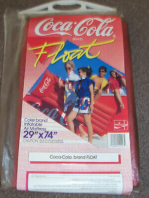 "N.o.s. 1980'S?? Large 29"" X 74"" Canvas Type Material ""Coca Cola"" Pool Float"