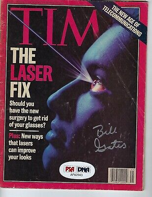Microsoft Bill Gates Signed Time Magazine October 11,1999 with COA