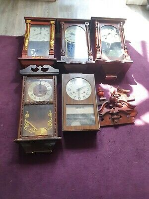 JOB LOT 5 Old long case wall clocks
