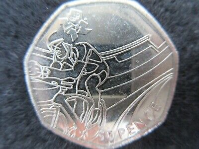 London 2012 Olympic Games 50p coin CYCLING (circulated, good condition)