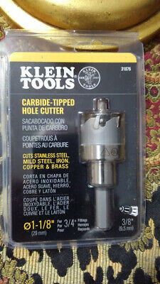*NEW* Klein Tools #31876 Carbide-Tipped Hole Cutter