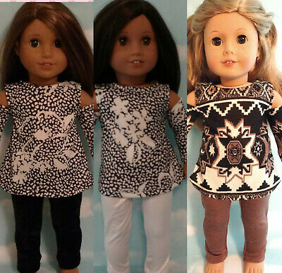 """18"""" Doll Tunic/ Top & Leggings fits 18 inch American Girl Doll Clothes 911abc"""