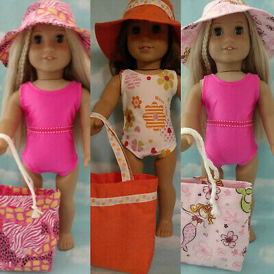 """18"""" Doll Swimsuit Set fits 18 inch American Girl Doll Clothes 750abc"""