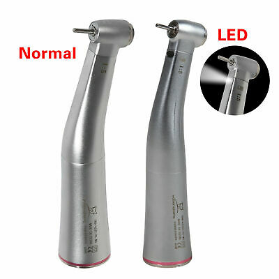 Dental Electric 1:5 LED Fiber Optic Contra Angle Handpiece Red R for NSK KAVO US