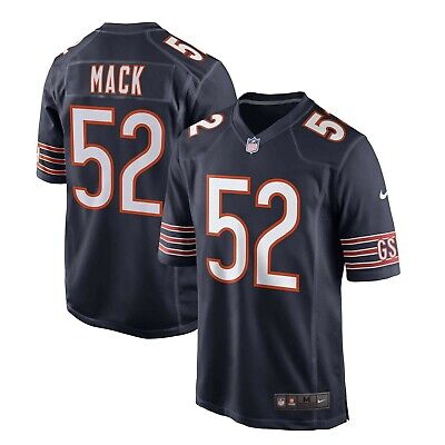 Brand New 2020 NFL Nike Chicago Bears Khalil Mack #52 Game Edition Jersey NWT