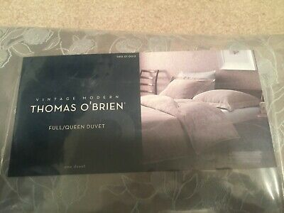 New Thomas O'Brien Pewter Blossom Duvet - Full/Queen