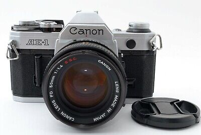 Excellent+5 Canon AE-1 w/ FD 50mm F1.4 SSC 35mm SLR Film Camera from Japan