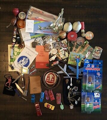 Junk Drawer vintage items Knives lighter Jordan, Diecast Coca Cola