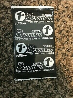 Topps 2020 Bowman Baseball 1st Edition ONE PACK Factory Sealed