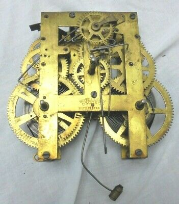 Vintage Waterbury Shelf Mantle Clock Movement Parts or Repair