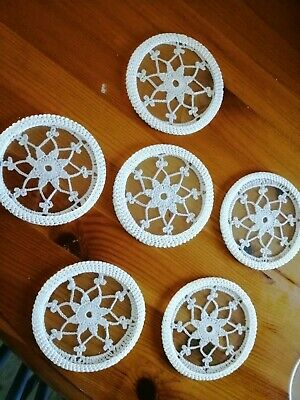 Vintage Style Crocheted Glass Coasters Mats