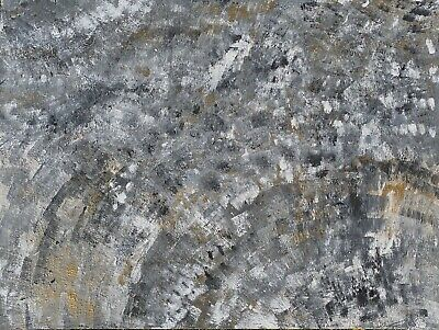 Abstract Grey Gold Painting Canvas Wall Art Large Modern Posters Room Decor