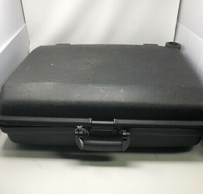 Large Samsonite Oyster GLS Suitcase Black Hard Shell Luggage Combo Lock Wheels