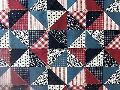 Cotton Quilt Fabric Traditions 1993 Patches  by 1/2 Yard