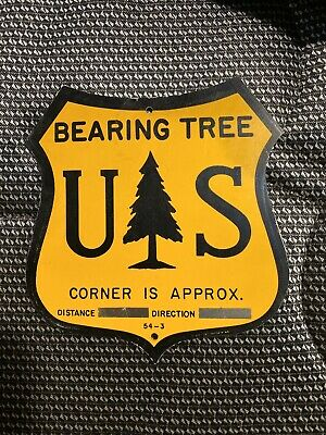 United States Forest Service Bearing Tree Sign USFS