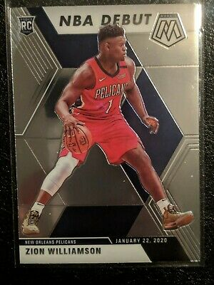 2019-2020 Panini Mosaic Nba Debut Rc Zion Williamson Pelicans Rookie Card # 269