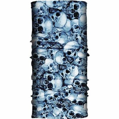 Blue Hair Glove Skulls Light Weight EZ Tube
