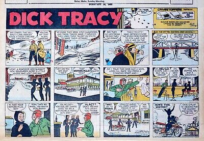 Dick Tracy by Chester Gould - large half-page Sunday color comic - Feb. 24, 1957